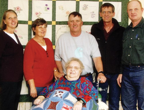 Lola Bradshaw recently celebrated her 80th birthday and is proud of her five children: Sharon, Sheila, Blaine, Allen and Harlan and their families. Lola passed down a strong work ethic to her children and a dedication to family, evident when all her children gathered in Meeker to surprise her on her birthday.