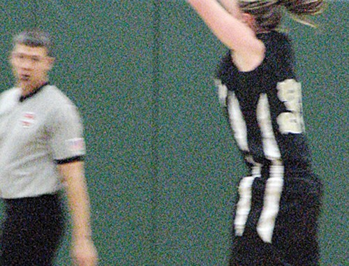 Meeker's Deena Norell earned five points for her team in the game against Plateau Valley.