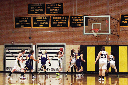 The lady Cowboys continue to dominate opponents, beating Little Snake River (59-32) and pounding Hayden (66-15) last week to start 2013 undefeated at 6-0.