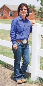 bobby gutierrez Melanie Watt Wilhelm, a graduate of Meeker High School, takes a minute away from a reining horse competition at her home in Nazareth, Texas. Wilhelm was named National Reining Horse Association Professional Horsewoman of the Year.