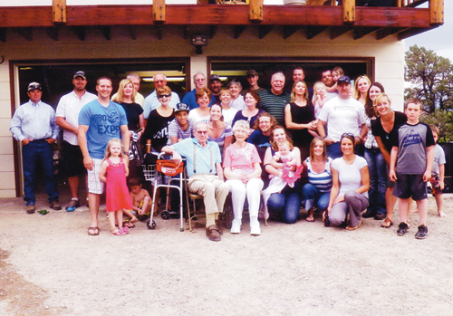 The Merriam family gathered for a reunion and all five of Dick and Nyla's children were in attendance, along with the majority of their 17 grandchildren and 16 great-grandkids.