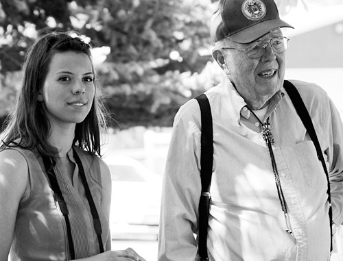 Frank Cooley and his granddaughter.
