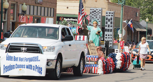 """With the theme """"Gone but not Forgotten,"""" Pioneers Medical Center won """"Best of Show"""" for its float in the annual Range Call parade in 2012."""