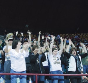 The Lady Cowboys were supported by a large and loud cheering section.