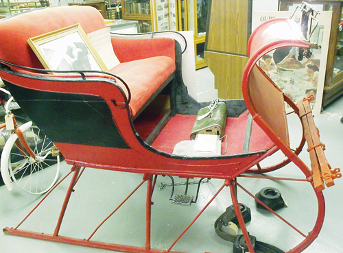 This classic sleigh, used to battle the snowy elements in  Rio Blanco County in the 1900s, is on display at the White River Museum in Meeker. The sleigh was donated to the museum by the Sprod family.