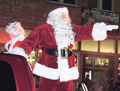 Santa and Mrs. Claus made their first stop of the season at Meeker on Friday night for Meeker's Parade of Lights. The Jolly Old Soul and his wife just may be in Rangely this weekend, taking part in Christmasfest. See photos throughout today's edition regarding Meeker's event and activities coming to Rangely.