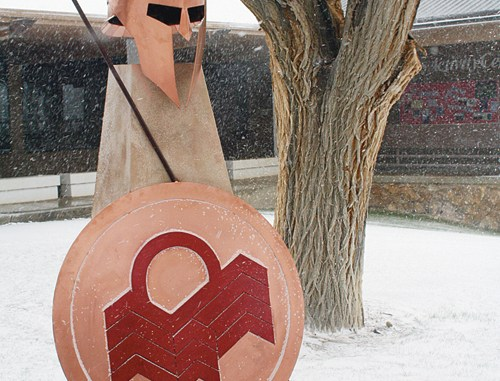 A new Spartan statue was part of CNCC's 50th anniversary.