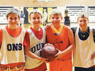 """The Four AmiBros,"" pictured bottom left, included Brennan Ibach, Elijah Deming, Jake Shelton and Cole Rogers."