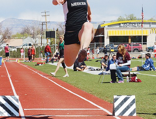 event she finished third in, won the triple jump in the Frank Woodburn Invitational meet and was eighth in the 300-meter hurdles.