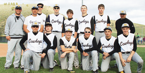 The Meeker High School baseball team (above) lost 3-2 to the Dolores Bears in the first round of the 2A state playoffs in Cortez, but everyone is excited about the future of Cowboy baseball. Playing for the Cowboys in the front row are Matt Devore, Cody Stickler, Kenny Kohls, Chevy Mohr, Dillan Frantz and Hunter Garcia. In the back row are: head coach Jason Browning, Bruno Juarez, Tony Collins, Jake Smith, Tanner Matriciano, Dylan Mobley, Matt Frantz and assistant coach Brian Merrifield.