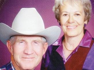 2014 Range Call parade grand marshals Don and Rosemary Hilkey.