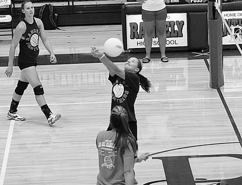 On Friday, Rangely High School played host to 13 volleyball teams in tournament play. The tournament gave coaches and players the opportunity to experience real-game situations and to see what each player's strengths and/or weaknesses may be before regular season starts. Regular season practice begins Aug. 11.