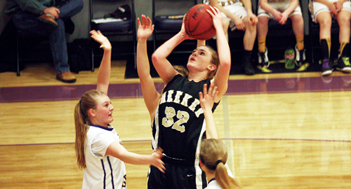 """According to Meeker girls' basketball coach Greg Chintala, sophomore Reese Pertile """"has really stepped up"""" her game. Pertile scored 20 points against Hayden, then 18 against West Grand and she pulled down nine rebounds. Meeker will play Ignacio in the Region 3 tournament, Friday at 3 p.m., at Grand Junction Central High School. Like the games against Hayden and West Grand, the lady Cowboys must win in order to advance to the regional championship game and qualify for the state tournament."""