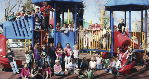 Rangely's Parkview Elementary School's three second-grade classes brought in more than $350 for the Pennies for Parkview fundraiser, which raised $1,135 for local breakfast and after-school programs and spring activities. As a reward, the classes enjoyed an ice cream sundae party at Elks Park on March 19.