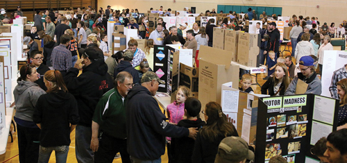 More than 140 science fair exhibits were on display at Parkview Elementary school last Thursday, presented by students from first through eighth grades. CNCC students served as judges for the event. Winners will be announced at Parkview's awards night on May 17.