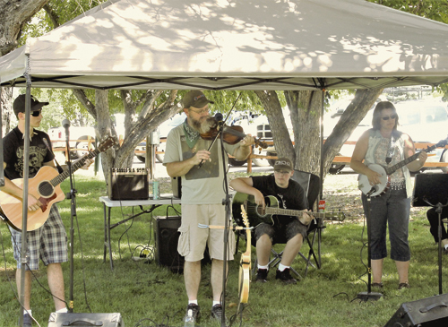 The Western Rio Blanco Metropolitan Park and Recreation District in Rangely hosted its annual summer Senior Picnic for the seniors in the Rangely area on Saturday at Elks Park. The music was provided by the well-known Rangely band Fiscus and Gravy. Members of the band are, from left Jarrod, Dan, Jordan and Bobbie Fiscus.