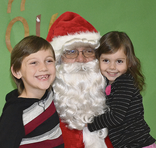 Leah Bohlander  photo James and Rachel Petty visited with Santa during the Breakfast with Santa event on Saturday, Dec. 3.