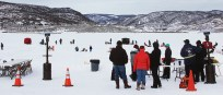 More than 165 people braved the elements and enjoyed the Family Ice Fishing Day at Lake Avery, including Jake Blazon (giving the thumbs-up), along with Scott and Kyden Aldridge. Last Saturday's event is sponsored by the ERBM Recreation and Parks District and Colorado Parks and Wildlife, with chili and hot chocolate served by Meeker's Lions Club. Bobby Gutierrez Photos