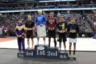 hunter on podium
