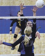 Meeker junior Sydnie Main had 143 kills this season and was second on the team with 26 blocks. Bobby Gutierrez photo