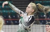 Rangely junior Marlena Miller finished the season with 65 kills and was in on 91 blocks. Bobby Gutierrez Photo