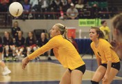 Meeker sophomore Addie Joy finished the season with 187 digs and 42 ace serves. Jim Cook photo