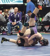 Pelloni used a bar arm to turn his Wray opponent upside down and pin him in the first round. Pelloni won more than 100 matches in his high school varsity career, qualified for the state tournament three times and placed twice.