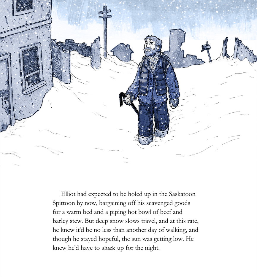 Walking in a Winter Wasteland: page 1
