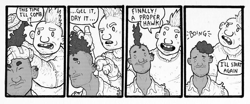 Comic Scrap – Hair Styling