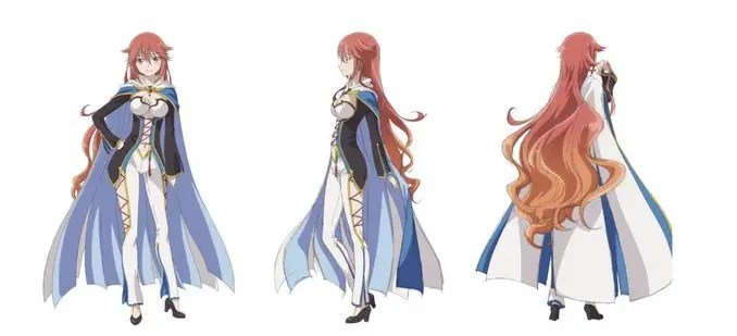 Luminaria character design from the front and back