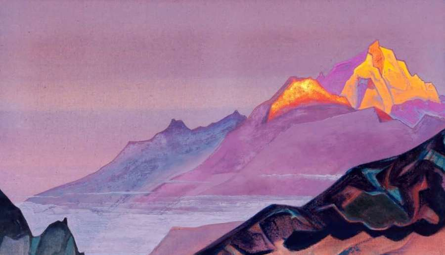 Explore the Himalayas : Paintings by Nicholas Roerich