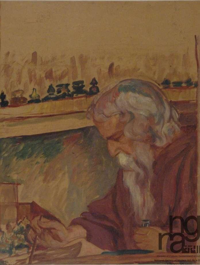 Portrait of Rabindranath Tagore. Elizabeth Brunner