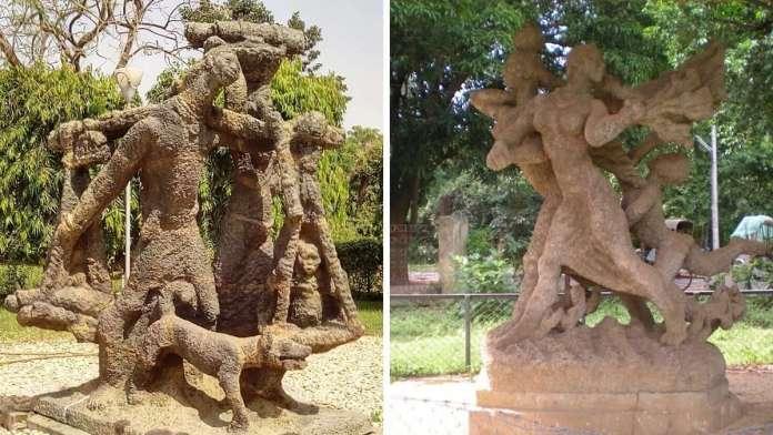 Ramkinkar Baij Shantiniketan sculptures