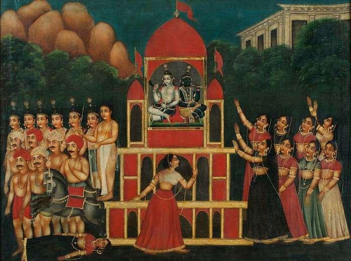 Rath Yatra painting Bengal DAG Ghare Baire