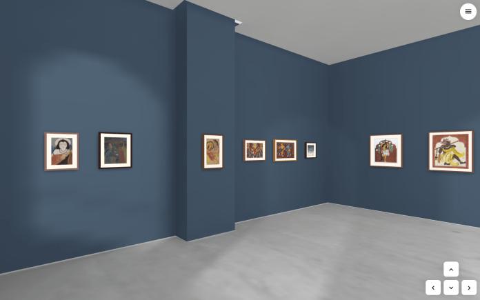 virtual museum walkthrough screenshot of gallery