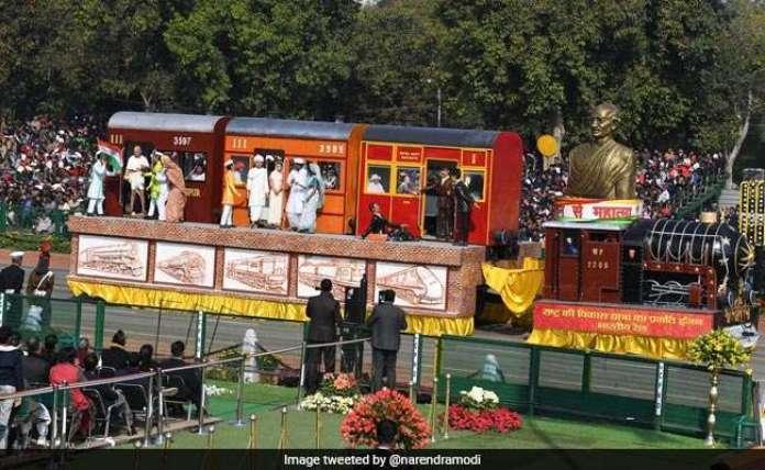 Railway Gandhi Tableau republic day