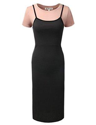 DRESSIS Cami Slip Dress with T Shirt