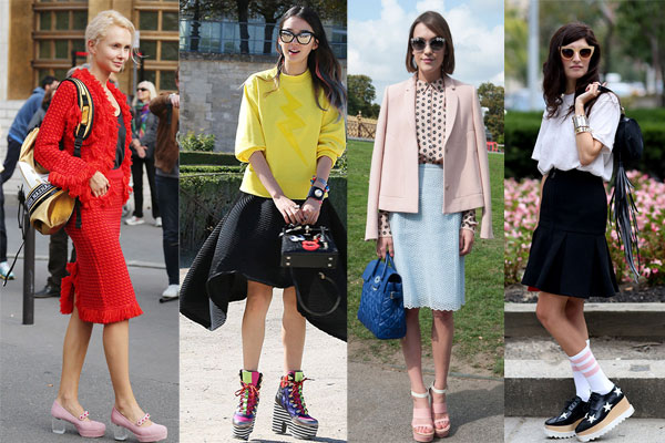 How To Wear Vintage Clothing With Modern Outfits platform shoes