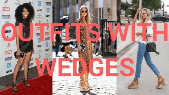 Outfits with Wedges title