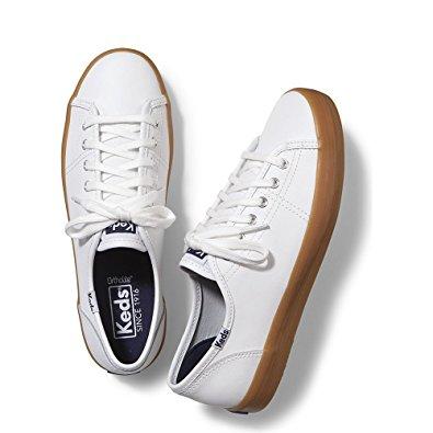 BEST WHITE SNEAKERS Keds Women's Kickstart Leather Fashion Sneaker
