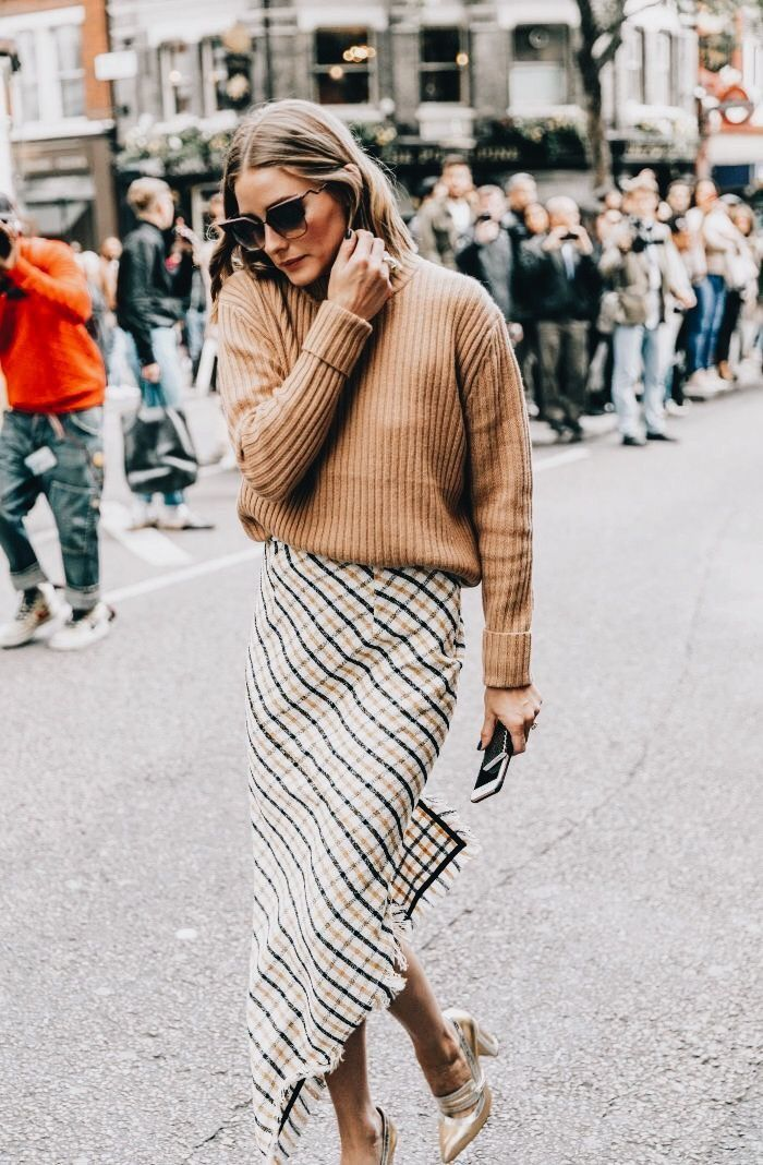 skirt trends plaid midi