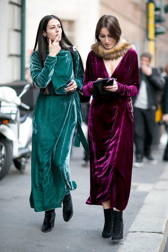 wrap dress velvet