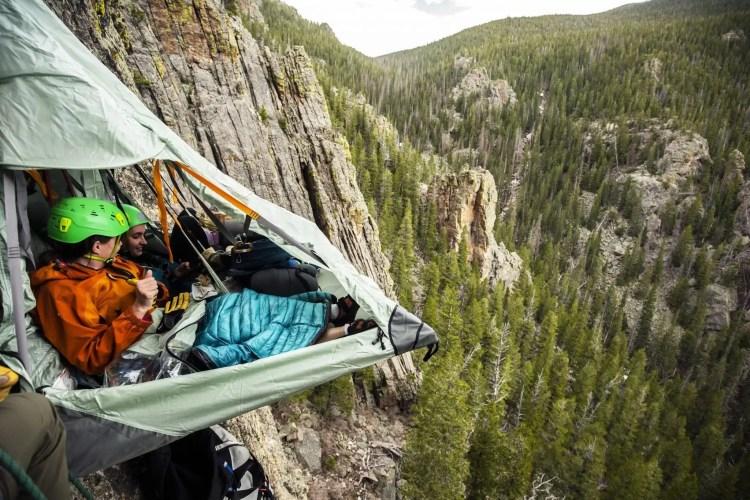 kamperen in een portaledge