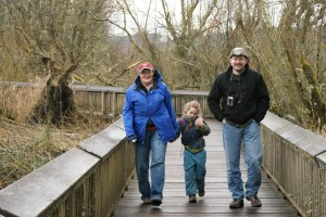 nisqually nwr, wetland, children in nature
