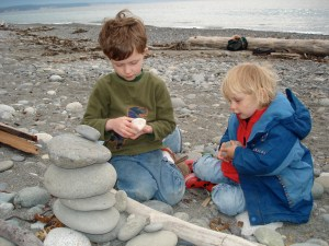 dungeness spit, nature with kids