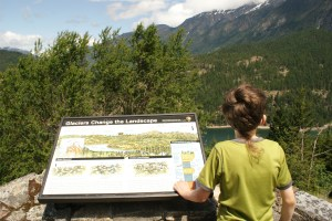 highway 20 interpretive signs, glaciers, north cascades