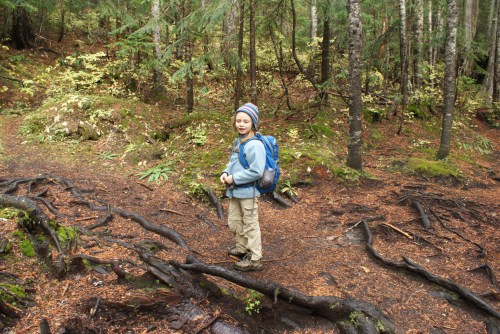 kids in nature, hiking with children, talapus olallie lake trail