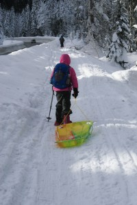snowshoeing with kids, winter hikes, stevens pass, smithbrook road