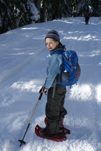 kids snowshoeing, winter hiking with children, Smithbrook Road