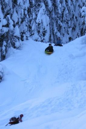 kids sledding, smithbrook road, winter fun, winter hiking with children